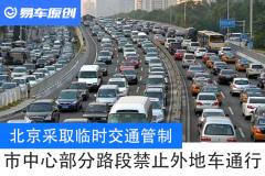 【图文】北京采取临时交通管制 市中心部分路段禁止外