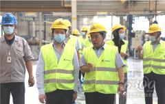 沃尔沃卡车中国区总裁董晨睿到临工参观访问
